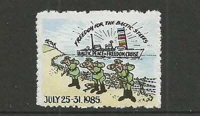 "USA 1985 Anti-Communist "" Baltic States Freedom Cruise"" Poster Label"