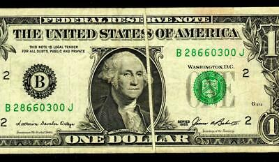 ERROR :: $1 1985 (( GUTTER FOLD )) Federal Reserve Note * MORE CURRENCY FOR SALE
