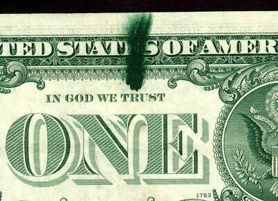 ERROR :: $1 1969 D ( INK SMEAR ) Federal Reserve Note  MORE CURRENCY FOR SALE