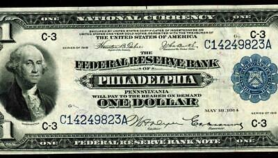 $1 1914 National Currency Federal Reserve Note ** More Paper Currency For Sale