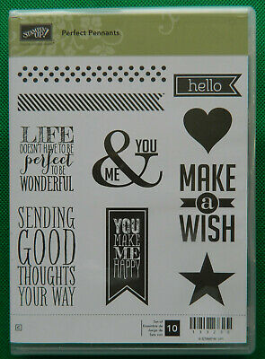 Retired Stampin' Up! Perfect Pennants stamp set
