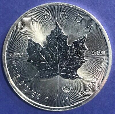 2014 CANADA  $5 1oz Silver Maple Leaf Silver Bullion .9999 fine Silver