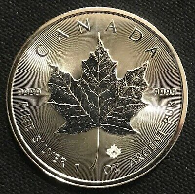 2016 CANADA  $5 1oz Silver Maple Leaf Silver Bullion .9999 fine Silver