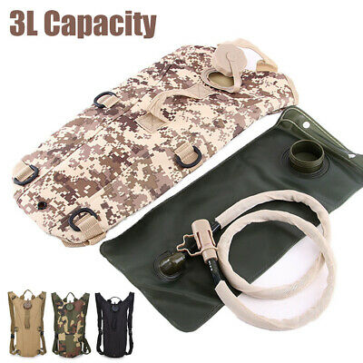 3L Water Bladder Bag w/ Hydration Backpack Pack Hiking Camping Cycling Outdoor