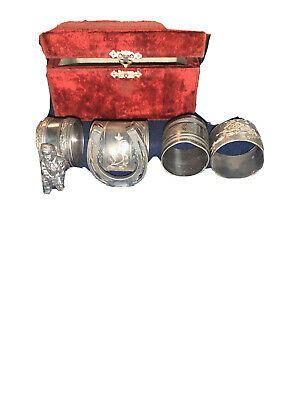 antique silver plated napkin rings