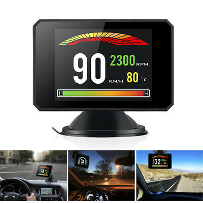 Car Driving Computer Speedometer Fuel Speed RPM Temp OBD2 Scan DiagnosticLCD