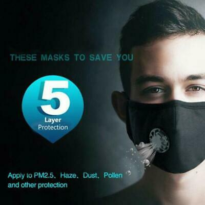 Cycling Protective Mouth-muffle Face Shield Haze Fog Mouth Cover W/2 Free Filter