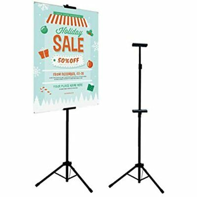 Double-Sided Easel Stand, Poster Holder Adjustable Up To 73 Inches Sign For