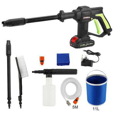 Cordless Pressure Washer Power Cleaner 275PSI w/ Charger &1.5A Battery Portable