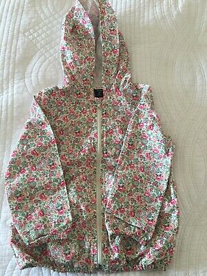 Gap Kids Girls Pink Floral Hooded Cagoule Rain Mac Jacket Aged 5