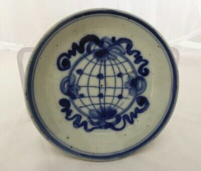 Chinese blue & white porcelain dish   plate