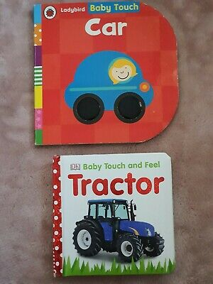 Car And Tractor Baby Sensory set of 2 Books