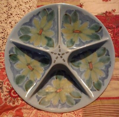 Pretty & Useful Vintage, Large Buchan Ware Hors D'oeuvre Dish. Summer Table.