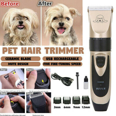 Pet Dog Clipper Grooming Trimmer Hair Low NoiseElectric Shaver Kit +Pet Scissors