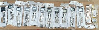 Job Lot Of 13 Digital Retro Style Wrist Watces (5 REQUIRE NEW BATTERIES)