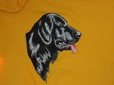 Embroidered Long-Sleeved T-Shirt - Flat-Coated Retriever BT3512  Sizes S - XXL