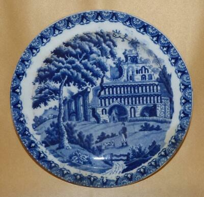 Staffordshire Pearlware Ruined Abbey Teaplate C1810-20