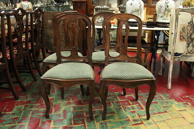 Group Of 4 Chairs / Style Baroque Piedmont/Period Of 800