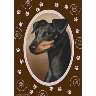 Paws House Flag - Uncropped Black and Tan Miniature Pinscher 17084