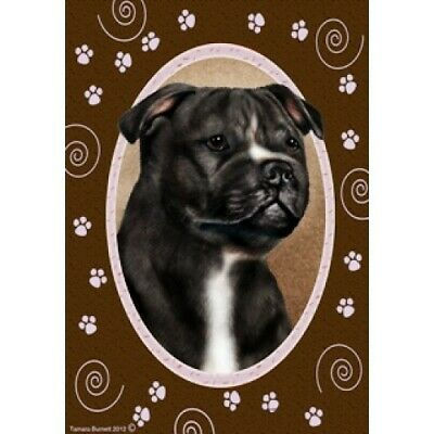 Paws House Flag - Black and White Staffordshire Bull Terrier 17231