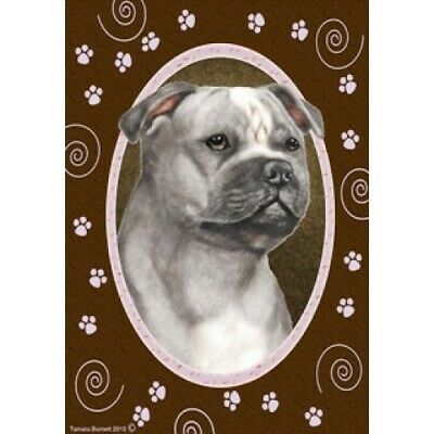 Paws House Flag - Blue and White Staffordshire Bull Terrier 17248