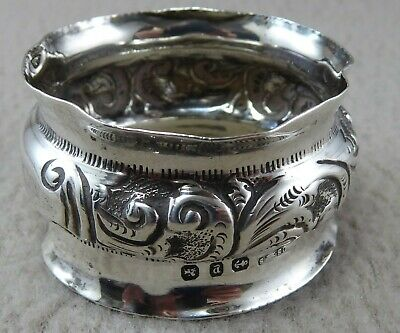 1898 Sterling Silver Napkin Ring by Saunders and Shepherd