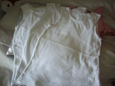 Marks & Spencer M&S Girls Vest Tops White 7-8 Next Post
