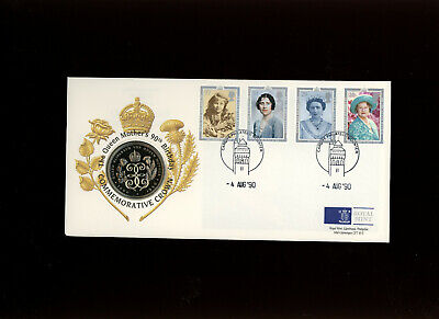 1990 The Queen Mother's 90th Birthday Commemorative Royal Mint £5 coin cover