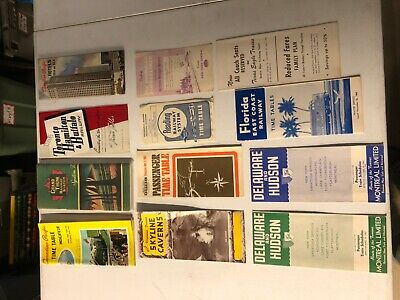 VINTAGE TIMETABLES- lot of 12