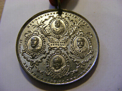 1897 Queen Victoria Diamond Jubilee Medal with Ribbon , Nice Condition, 38mm