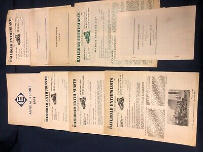 Train timetables vintage lot - (9)