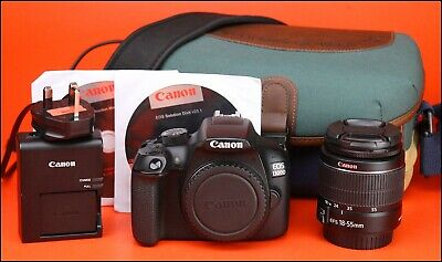 Canon EOS 1300D DSLR Camera + 18-55mm Zoom Lens Kit  + Bag Battery & Charger