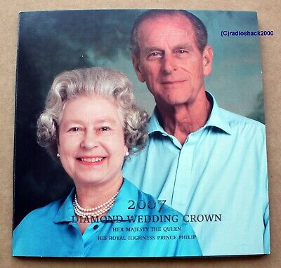 2007 Diamond Wedding Crown £5 Her Majesty the Queen HRH Prince Philip pack