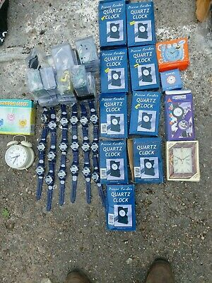 Job lot of watches &clocks as pics x50+poorly stored may need clean & testing J2