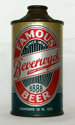 Beverwyck Beer 12 oz. Low Profile Cone Top Beer Can-Albany, NY.