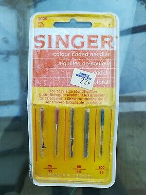 Vintage singer sewing machine needles. Antique made in west Germany