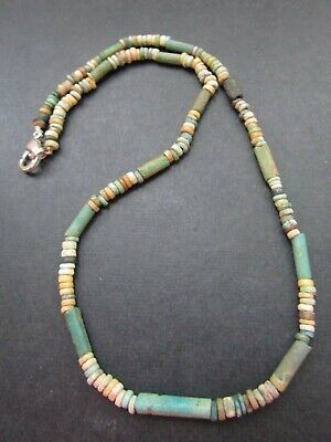 NILE  Ancient Egyptian Amulet Mummy Bead Necklacea ca 1000 BC