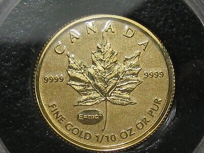 Better Date 2015 w/ E=mc² Privy 1/10 troy oz 9999 Fine Gold $5 CML Canada.  #55