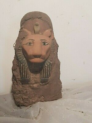 Rare Antique Ancient Egyptian Statue God Sekhmet Lion War Army Hunt 1840-1780BC