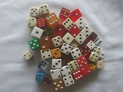 Dice Lot Assorted Colors And Sizes Huge Lot