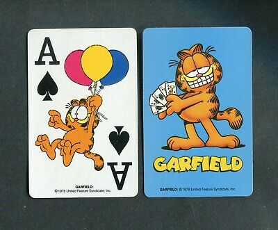 SPADE ACE:United Feature Syndicate,Inc. GARFIELD - 1 Single Swap / Playing Card