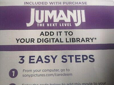 Jumanji The Next Level DIG/Movie Code (Canada Only)