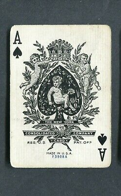 SPADE ACE: The New York Consolidated Card Co.  - 1 Single Wide Playing Card