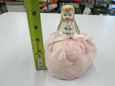 Vintage Porcelain Pin Cushion Doll / Sewing # 18