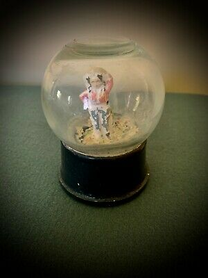 1940s Era Snow Globe dome  Atlas Crystal Works Vintage  COWGIRL