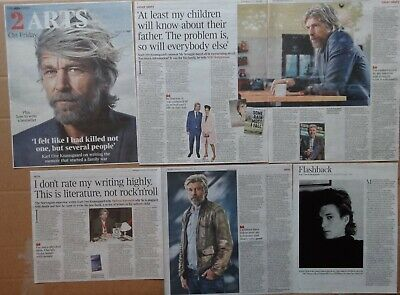 Karl Ove Knausgaard - clippings/cuttings/articles pack