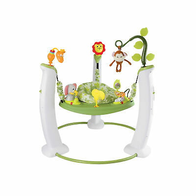 Evenflo ExerSaucer Jump and Learn Safari Friends Jumping Activity Baby Jumper