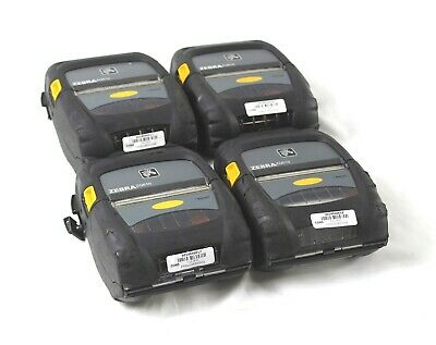 Lot of 4 Zebra ZQ510 Bluetooth Mobile Rugged Thermal Printer No Battery/Adapter