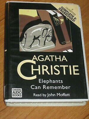 ELEPHANTS CAN REMEMBER by AGATHA CHRISTIE - UNABRIDGED CASSETTE AUDIO BOOK
