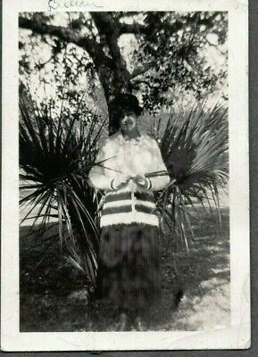 Vintage Photograph 1920'S Young Girls Sweater/Hat Fashion Palm Maine Old Photo